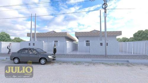 Imagem 1 de 14 de Entrada De R$115.000 E 100x De R$1150 C/poupança. Casa Com 2 Dormitórios À Venda, 67 M² Por R$ 230.000 - Agenor De Campos - Mongaguá/sp - Ca4189