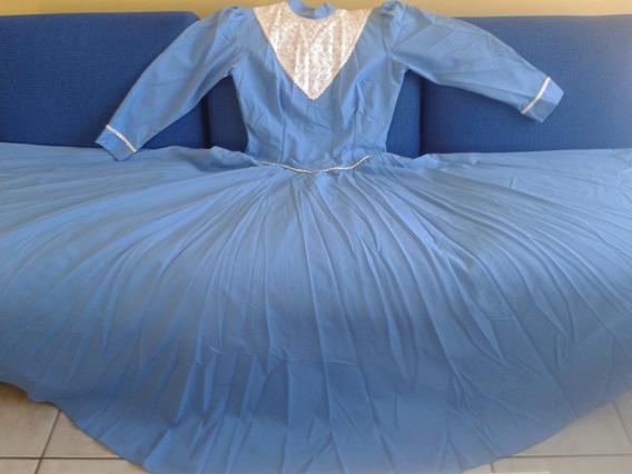 Vestido De Prenda Poliéster 46 Azul Claro