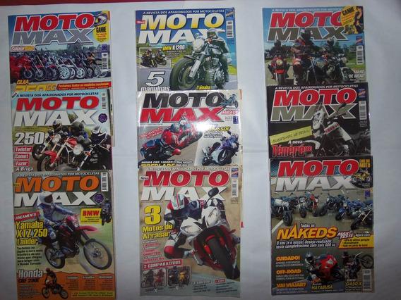 Lote De Revistas Moto Max, Em Ótimo Estado