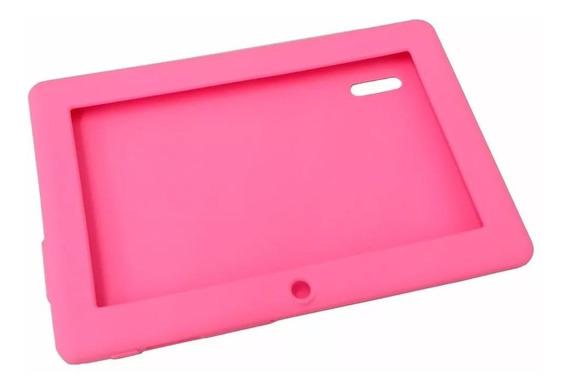Capa De Silicone Rosa Para Tablet 7 Polegadas Nova