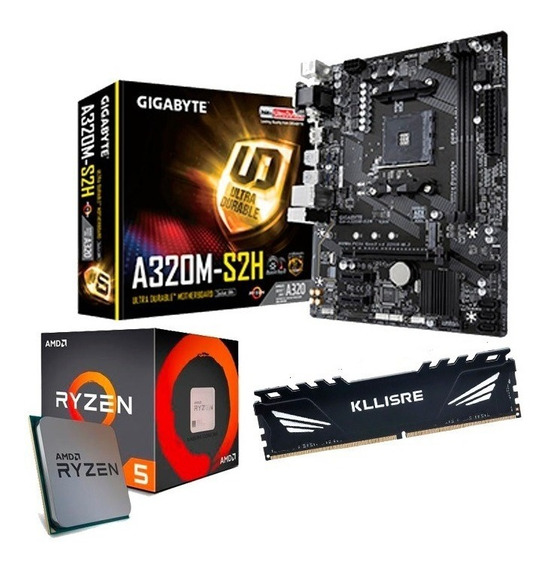 Kit Ryzen 5 - Placa Mãe + Processador + Cooler + 8gb Ddr4