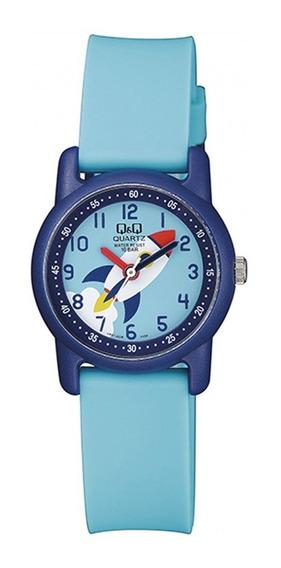 Relógio Q&q Infantil Masculino Foguete Espacial Prova D