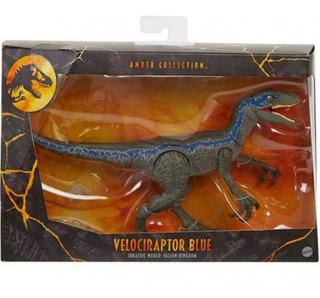 Jurassic World Amber Collection Velociraptor Blue