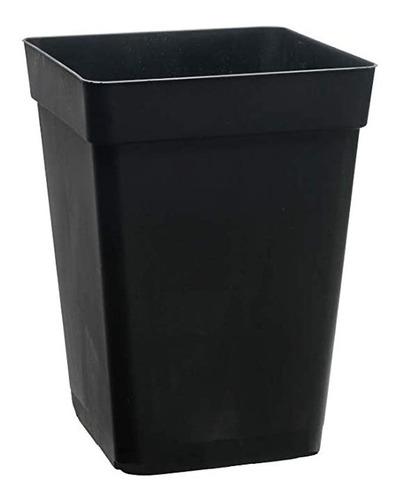 Imagen 1 de 1 de Macetas Plasticas Cuadradas De 7l  Negras.