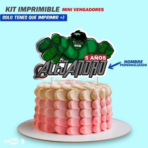 Kit Imprimible Personalizado Vengadores Candy Bar Invitación