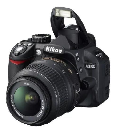 Cámara Nikon 3100 Con Lente Y Caja Pocos Disparos Excelente