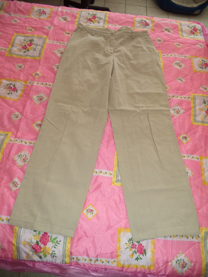 Pantalon De Vestir Eddie Bauer Color Camel Dama Talla 10 36