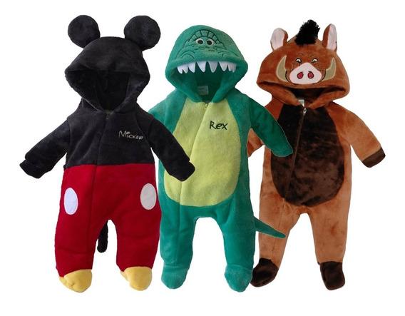 Kit 3 Mamelucos Disney Rex, Mickey, Pumba A Precio De 2
