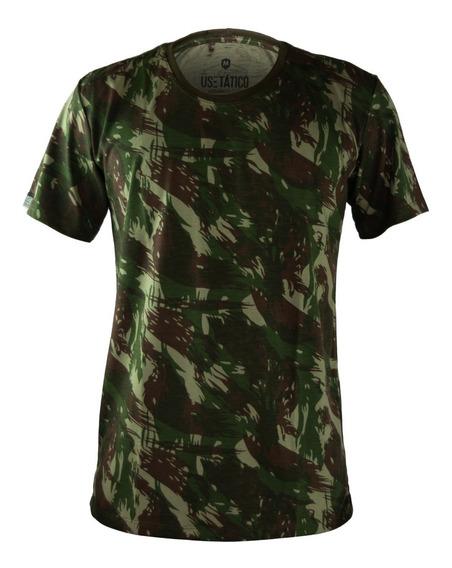 Camiseta Masculina Camisa T-shirt Camuflada Exército Militar