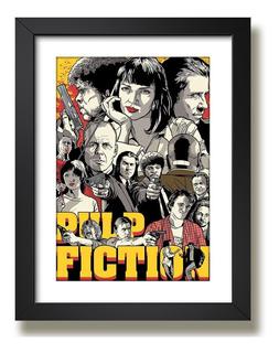 Quadro Pulp Fiction Tarantino Filme Acao Cine Tv Decorativo