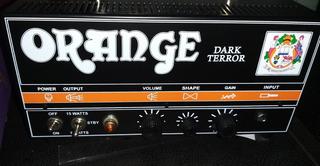 Orange Dark Terror Valvular Con Caja Argie 2x12