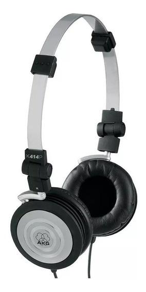Fone De Ouvido Akg K414p Profissional On Ear Preto Headphone