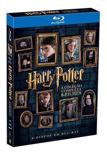 Imagem 1 de 1 de Blu-ray Harry Potter A Coleção Completa 8 Filmes Orig Novo