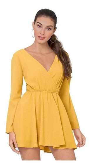 Vestido Soviet Mujer Amarillo Poliester 4810