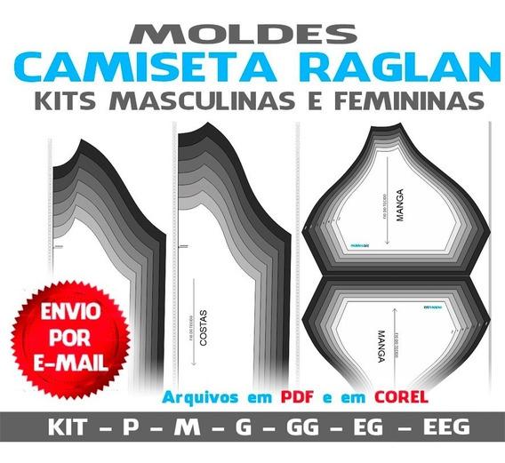 Moldes Camisetas Masculinas E Femininas Raglan