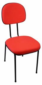 Cadeira Secretária Fixa Vermelha