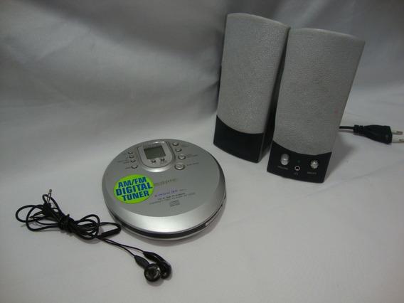 Antigo Discman Radio Am Fm Aiwa Anos 90 Completo