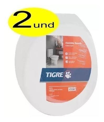 Tampa Vaso Sanitário Almofadado Tigre Branco 2 Unidades