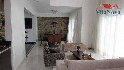 Sobrado Com 4 Suítes À Venda, 360 M² Por R$ 1.810.000 - Condomínio Helvetia Park I - Indaiatuba/sp - Ca1824