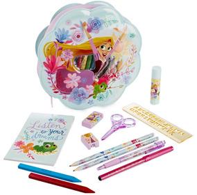 Disney Store Set Escolar Lapicera Rapunzel Enredados Origina