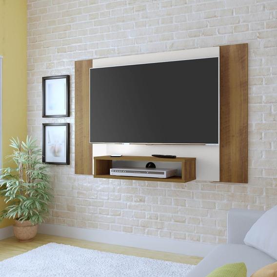 Painel Para Tv Quarto Tv Até 40 Pol Pinho/off White Artely