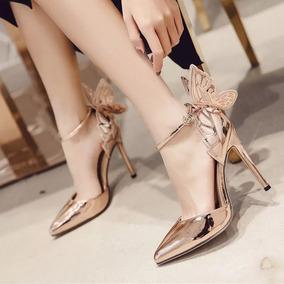 Sapato Salto 8cm Borboleta Festas E Casamentos/frete Grátis