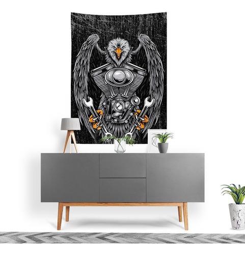 Imagem 1 de 3 de Stompy Bandeira Decorativa Decoração Eagle Motor Rock