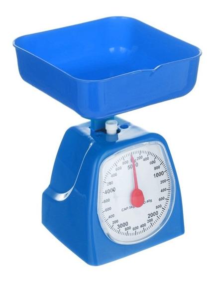 Bascula Cocina Kitchen Scales 5kg Azul - B0502