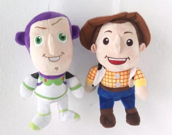 Boneco Pelúcia Woody E Buzz Lightyear - Toy Story 25 Cm 2un