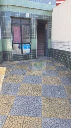 Imagem 1 de 9 de Casa Sobreposta 1 Dormitorio  P/ Comercio Ou Residencia - R$ 1.400 Mil - À 50 Metros Da Afonso Pena - Santos - Ca0930