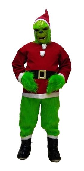 Disfraz De Grinch Santa Claus Adulto Navidad Envío Gratis