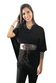 Blusa Ponche Kimono Poncho Feminino Casaco Frio Lã Inverno
