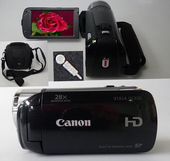 Filmadora Canon Vixia Hf-r20 Entrada Microfone Full Hd