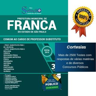 Apostila Prefeitura Franca Sp - Cargos Professor Substituto