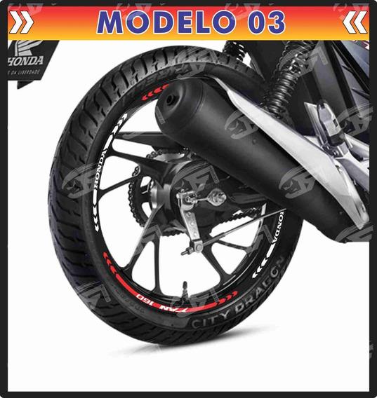 Adesivo Friso Refletivo Honda Fan 160 150 125 M03
