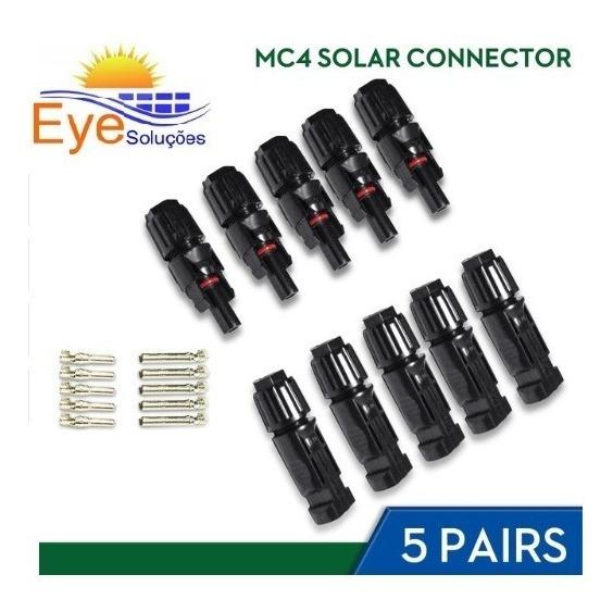 Par De Conector Mc4 2.5-6mm2 Para Painel Placa Solar -05 Und