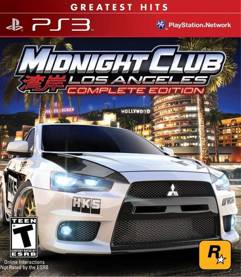 Midnight Club Los Angeles Complete Edition Ps3 Psn