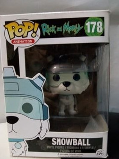 Figura Funko Pop! # 178 Rick And Morty Snowball Animation