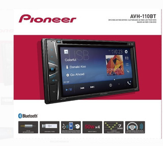 Reproductor De Carro Pioneer Bluetooth Dvd Avh-110b (250v)