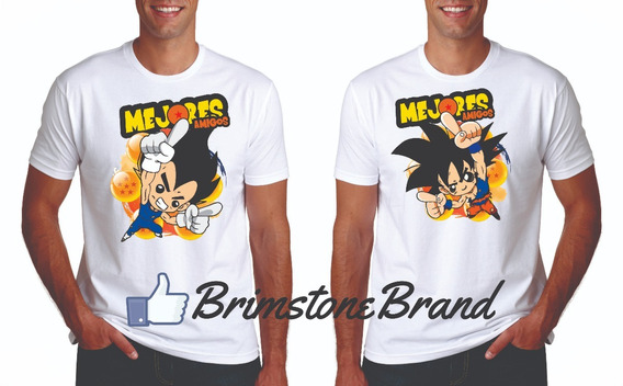 Playeras Best Friends Mejores Amigos Dragon Ball Vegeta Goku