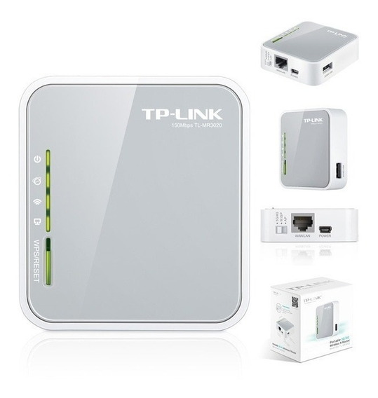 Roteador Portátil Wireless P/ Modem 3g / 4g Tp-link Mr3020