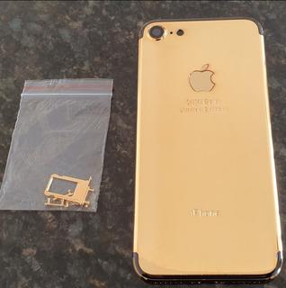 Carçaca iPhone 7 Banhada A Ouro 24k Dourada( Pronta Entrega)