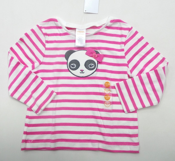 Bata Infantil Gymboree Panda Listra Manga Longa Eua!