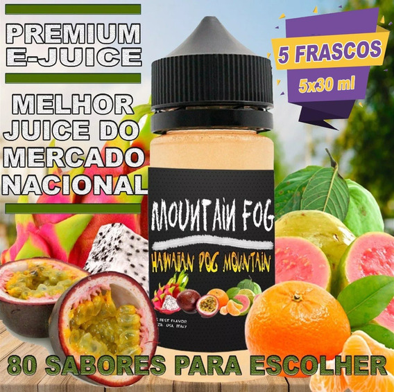 4 + 1 Brinde Ejuice 30ml Essência Liquida E-liquid Vapers