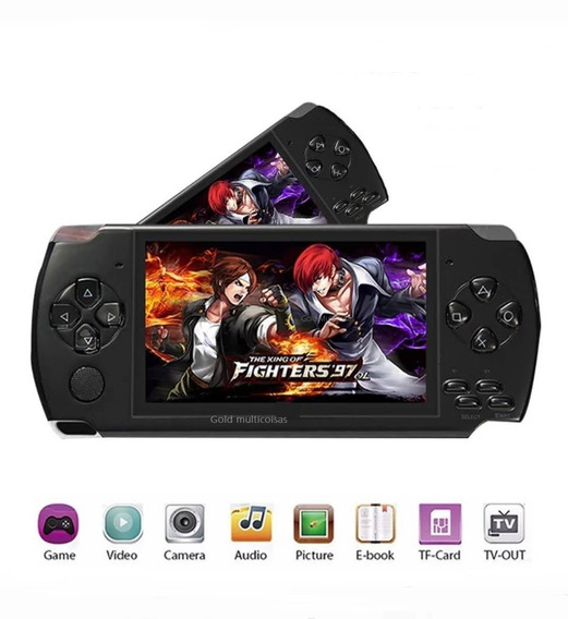 Video Game Portátil +500 Jogos Nes Nintendo Sega Gba Mp3 Psp