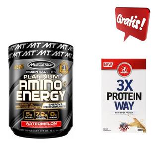 Amino + Energy Platinum Bcaas Muscletech 288g Importado Alpha Amino Decanate Build Cellucor Xtend
