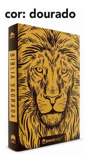 Bíblia Leão Dourado | Jesus Copy | Nvi