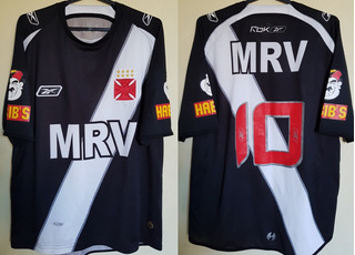 Camisa Oficial Futebol Vasco Reebok Mrv Habibs 2008 # 10