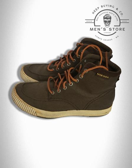 Sapato Sapatenis Couro Marrom Diesel