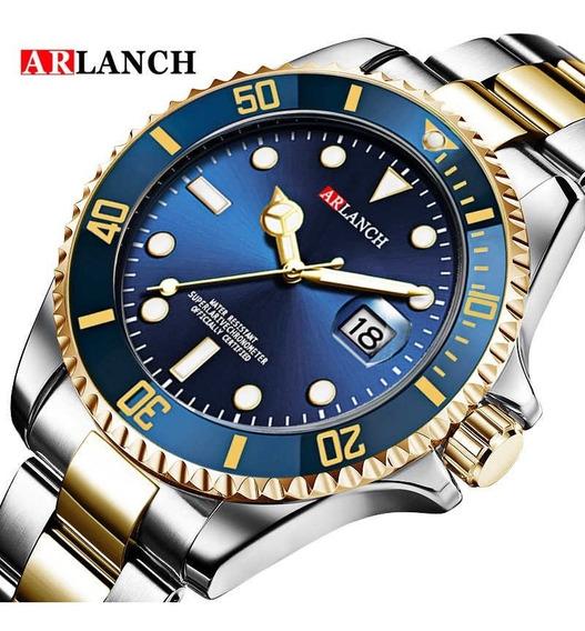 Relógio Masculino Arlanch Submariner Original A Prova Dágua